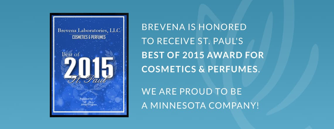 "Brevena Award Winner: St. Paul's ""Best of 2015 Award for Cosmetics and Perfumes"" Skin Care"
